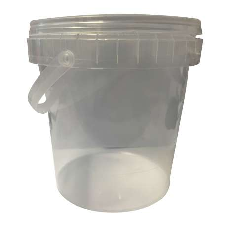 1.2 Litre Clear Plastic Bucket - Pack of 10