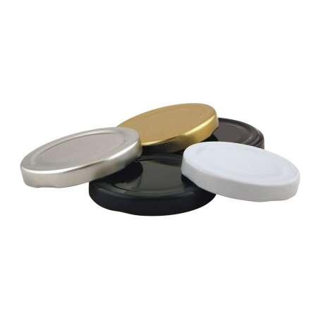48mm Black lids - Pack of 100