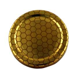 63mm Gold Honeycomb lids - Pack of 100
