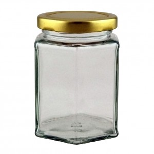 12oz Hexagonal Jar - Pack of 33