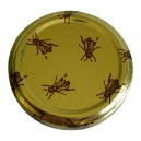 63mm Bee on Honeycomb lids - Pack of 100