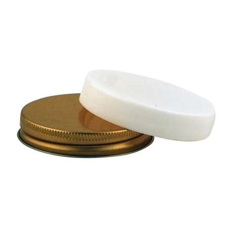 58R3 white plastic screw lid - Pack of 144