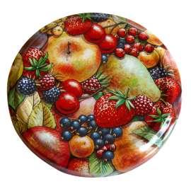 63mm Fruit Print lids - Pack of 100