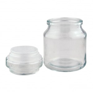 8oz Round Jar with Knobstopper - Pack of 16