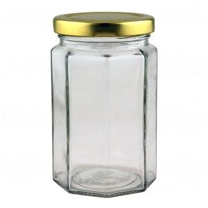 12oz Octagonal Jar - 525 jars & lids
