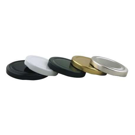 70mm Black lids - Pack of 100