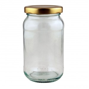 Traditional 1lb Jam Jar with fancy lids - Pack of 33