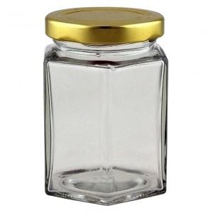 8oz Hexagonal Jar - Pack of 41