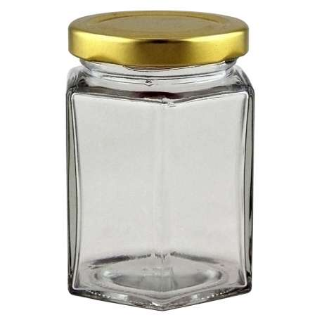 8oz Hex (Hexagonal) Jar - Pack of 41