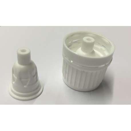 GL18 Black tamper evident cap with drop dispensing insert  - Pack of 100