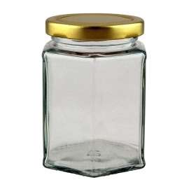 12oz Hex (Hexagonal) Jar - 33 Pack