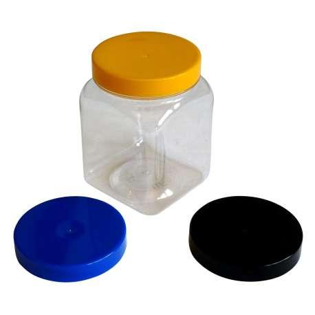 450ml PET Square Jar - Pack of 72