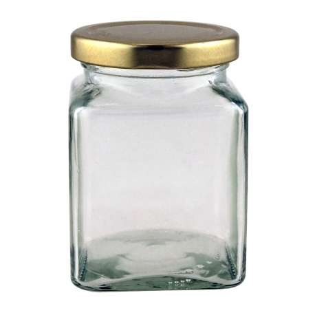 12oz Square Jar - Pack of 27